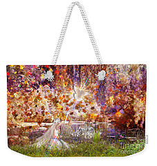 Weekender Tote Bag featuring the digital art Be Still And Know by Dolores Develde