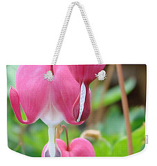 Weekender Tote Bag featuring the photograph Be Still My Little Bleeding Heart by Margaret Bobb