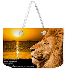 Weekender Tote Bag featuring the photograph Be Strong And Courageous by Scott Carruthers