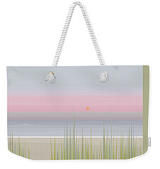 Beach Abstract Weekender Tote Bag by Val Arie