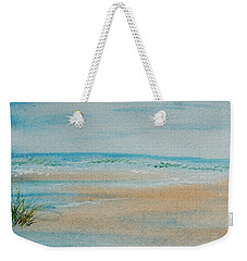 Weekender Tote Bag featuring the painting Beach At High Tide by Dorothy Darden