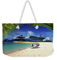 Beach At Nassau Harbor Weekender Tote Bag