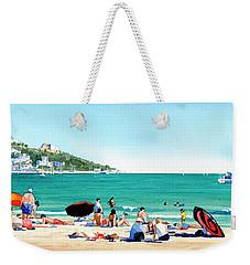 Beach At Roses, Spain Weekender Tote Bag