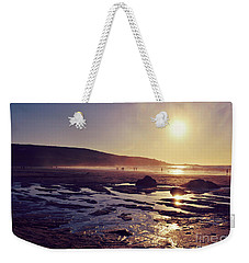 Weekender Tote Bag featuring the photograph Beach At Sunset by Lyn Randle