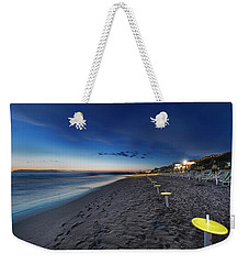 Weekender Tote Bag featuring the photograph Beach At Sunset - Spiaggia Al Tramonto I by Enrico Pelos
