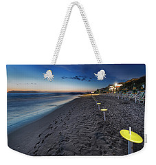 Weekender Tote Bag featuring the photograph Beach At Sunset - Spiaggia Al Tramonto II by Enrico Pelos