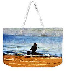 Beach Baby Blue Weekender Tote Bag