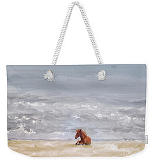 Weekender Tote Bag featuring the photograph Beach Baby by Lois Bryan