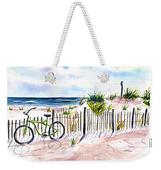 Beach Bike At Seaside Weekender Tote Bag