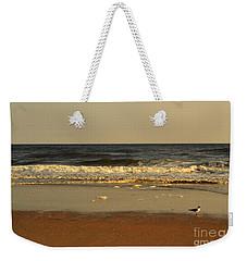 Beach Bird At Sunset  Weekender Tote Bag