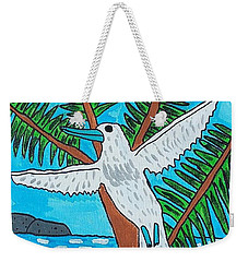 Weekender Tote Bag featuring the painting Beach Bird by Artists With Autism Inc