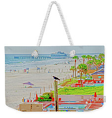 Beach Bird On A Pole Weekender Tote Bag