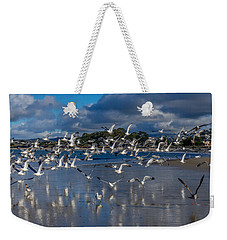 Beach Birds Weekender Tote Bag by Derek Dean