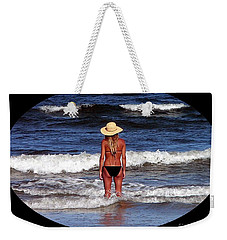Weekender Tote Bag featuring the photograph Beach Blonde .png by Al Powell Photography USA
