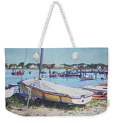 Beach Boat Under Cover Weekender Tote Bag