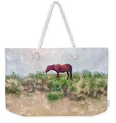 Weekender Tote Bag featuring the digital art Beach Boy by Lois Bryan