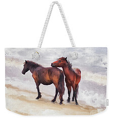 Weekender Tote Bag featuring the photograph Beach Buddies by Lois Bryan
