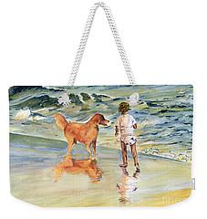Beach Buddies Weekender Tote Bag by Melly Terpening