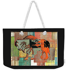Weekender Tote Bag featuring the photograph Beach Buffalo by Larry Campbell