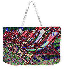 Beach Chairs Weekender Tote Bag by Bill Cannon