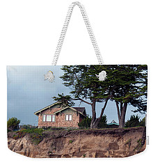 Weekender Tote Bag featuring the photograph Beach Cottage by Haleh Mahbod