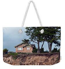 Beach Cottage Weekender Tote Bag by Haleh Mahbod