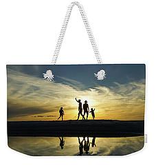 Beach Dancing At Sunset Weekender Tote Bag