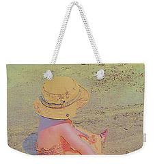 Weekender Tote Bag featuring the digital art Beach Day by Aliceann Carlton