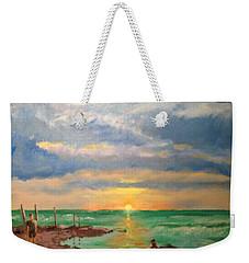 Beach End Of Day Weekender Tote Bag