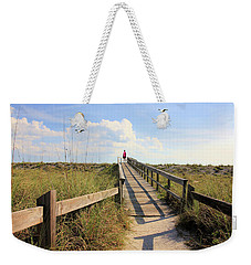 Beach Entrance Weekender Tote Bag