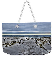 Weekender Tote Bag featuring the photograph Beach Entry by Paul Ward