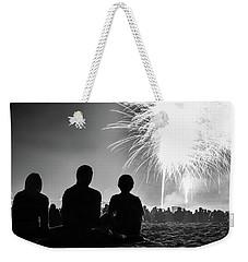 Beach Fireworks Weekender Tote Bag