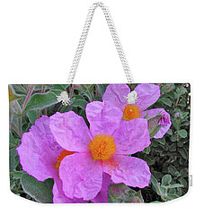 Weekender Tote Bag featuring the photograph Beach Flower by Arthur Fix