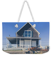 Weekender Tote Bag featuring the photograph Beach Front Cottage by Edward Fielding