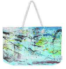 Beach Fun Art - Splash Blue Abstract Painting Weekender Tote Bag
