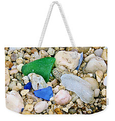 Weekender Tote Bag featuring the photograph Beach Glass by Karen Silvestri
