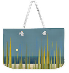 Weekender Tote Bag featuring the digital art Beach Grass And Blue Sky by Val Arie