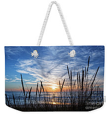 Beach Grass Weekender Tote Bag by Delphimages Photo Creations