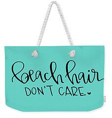 Beach Hair Weekender Tote Bag by Elizabeth Taylor