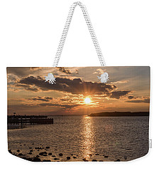 Beach Haven Nj Sunset January 2017 Weekender Tote Bag