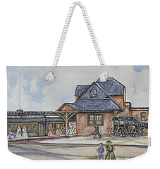 Beach Haven Railroad Station Weekender Tote Bag