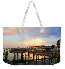Beach Homes At Sunset Weekender Tote Bag