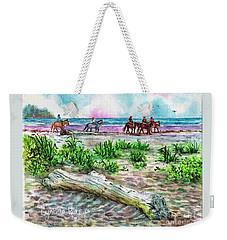Beach Horseback Riding Weekender Tote Bag