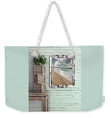 Weekender Tote Bag featuring the photograph Beach House By Kaye Menner by Kaye Menner