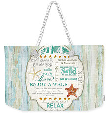 Beach House Rules - Refreshing Shore Typography Weekender Tote Bag