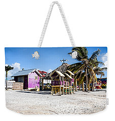 Weekender Tote Bag featuring the photograph Beach Huts by Lawrence Burry