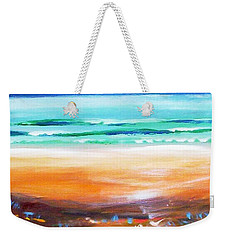 Weekender Tote Bag featuring the painting Beach Joy by Winsome Gunning
