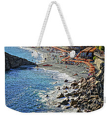 Beach Monterosso Italy Dsc02467 Weekender Tote Bag