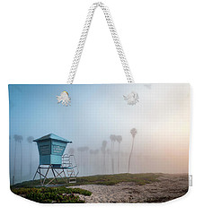 Weekender Tote Bag featuring the photograph Beach Office by Sean Foster