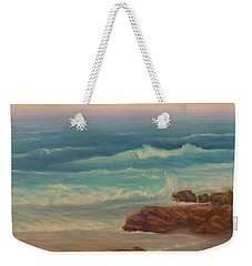 Beach Painting Beach Rocks  Weekender Tote Bag
